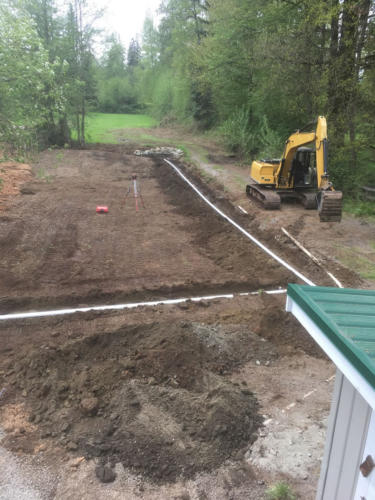 Excavation for landscaping